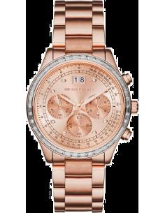Chic Time | Montre Femme Michael Kors MK6204 Or Rose Lunette argent  | Prix : 199,20€
