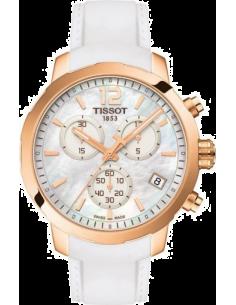 Chic Time   Montre Femme Tissot Quickster T0954173711700 Blanc    Prix : 440,00€