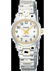 Chic Time | Montre Femme Pulsar PH7149X1 Argent Lunette et aiguilles dorées  | Prix : 47,60€