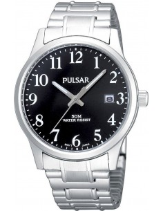Chic Time | Montre Homme Pulsar PS9017X1 Argent Cadran noir  | Prix : 44,50€