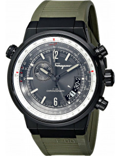 Chic Time | Montre Homme Salvatore Ferragamo F-80 FQ2010013 Vert  | Prix : 2,029.00