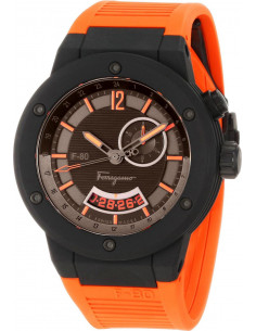 Chic Time | Montre Homme Salvatore Ferragamo F-80 F55LGQ6876SR62 Orange  | Prix : 1,999.00