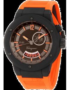 Chic Time | Montre Homme Salvatore Ferragamo F-80 F55LGQ6876SR62 Orange  | Prix : 1,999.00