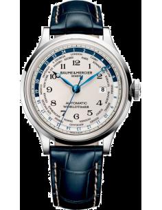 Chic Time | Montre Homme Baume & Mercier Capeland MOA10106 Bleu  | Prix : 6,799.00