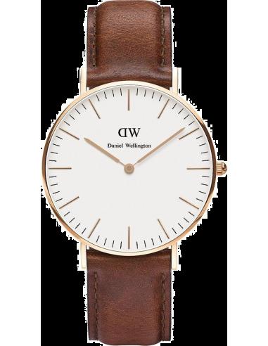 Montre Mixte Daniel Wellington Classic St Mawes 0507DW Bracelet en cuir