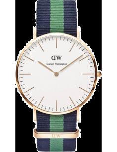 Chic Time | Montre Daniel Wellington Classic Warwick DW00100005 Bracelet tissu vert  | Prix : 79,50€