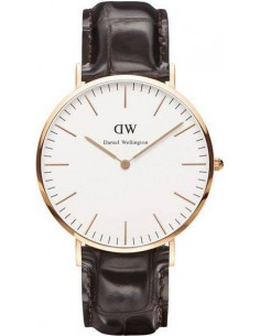 Chic Time | Montre Homme Daniel Wellington Classic York DW00100011 Marron  | Prix : 101,40 €