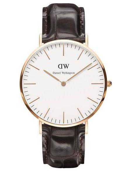 Chic Time | Montre Homme Daniel Wellington Classic York DW00100011 Marron  | Prix : 101,40€
