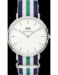 Chic Time | Montre Homme Daniel Wellington Classic 0208DW Tissu vert blanc et bleu  | Prix : 117,00€