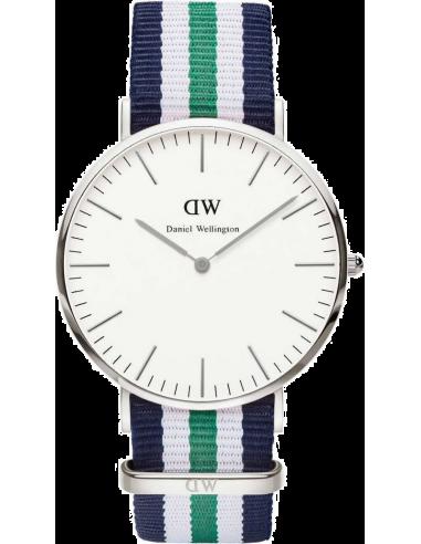 Chic Time   Montre Homme Daniel Wellington Classic 0208DW Tissu vert blanc et bleu    Prix : 97,50€