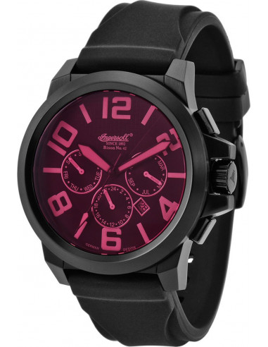 Chic Time | Montre Homme Ingersoll Bison IN4107BBPU Noir  | Prix : 329,00 €