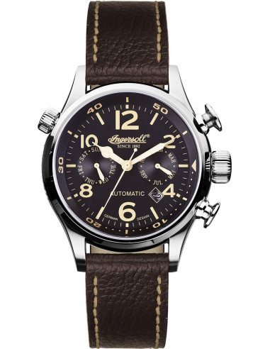 Chic Time | Montre Homme Ingersoll Active Watches IN1809BK Marron  | Prix : 299,00€