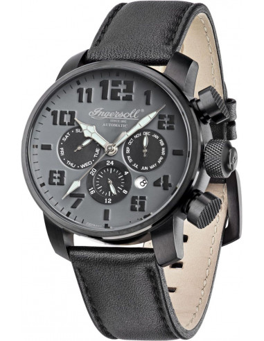 Chic Time | Montre Homme Ingersoll IN1224BKGY Noir  | Prix : 309,00 €