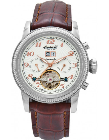Chic Time | Montre Homme Ingersoll Classic IN1801WH Marron  | Prix : 299,00€