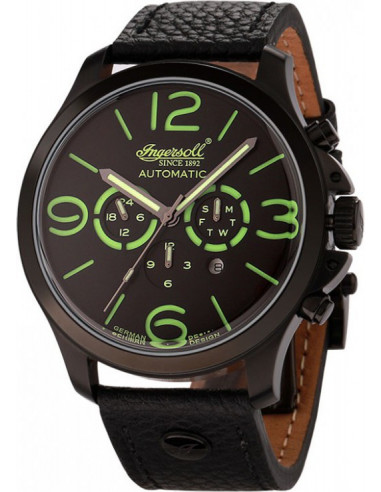 Chic Time | Montre Homme Ingersoll Active Watches IN1503BKGR Noir  | Prix : 199,00€