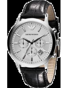 Chic Time | Montre Homme Emporio Armani AR2432 Chronomètre Cuir Noir  | Prix : 179,40€