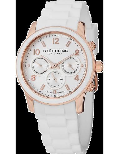 Chic Time | Montre Femme Stuhrling Original Monaco 796.01 Blanc  | Prix : 139,00€