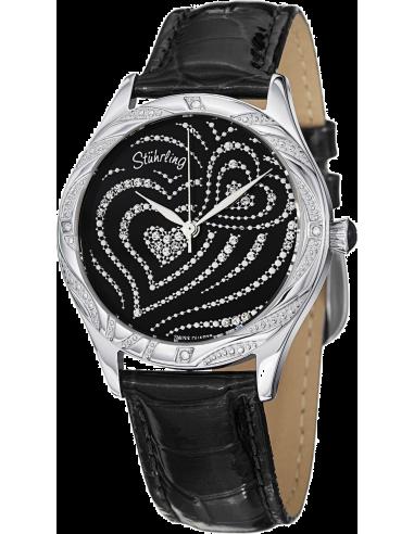 Chic Time   Montre Femme Stuhrling Original Vogue 582.22151 Noir    Prix : 109,00€