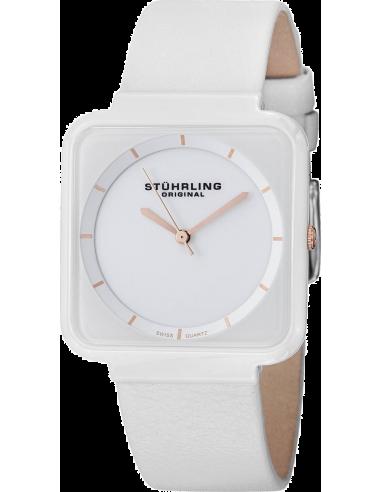 Chic Time | Montre Femme Stuhrling Original Vogue 438.12EP2 Blanc  | Prix : 89,00€