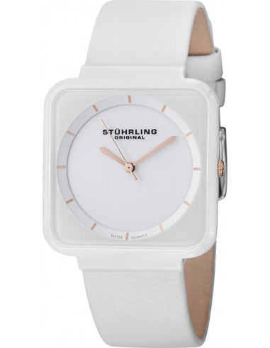 Chic Time | Montre Femme Stuhrling Original Vogue 438.12EP2 Blanc  | Prix : 89,00 €