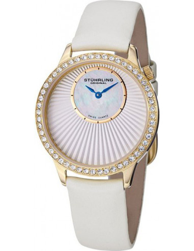 Chic Time | Montre Femme Stuhrling Original Vogue 336.123P2 Blanc  | Prix : 109,00€
