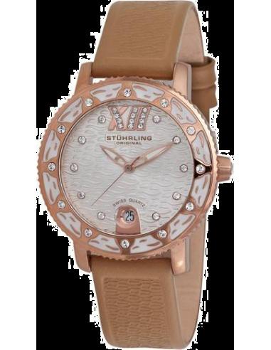 Chic Time | Montre Femme Stuhrling Original Aquadiver 225.1145K2 Marron  | Prix : 129,00€