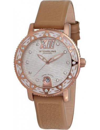 Chic Time | Montre Femme Stuhrling Original Aquadiver 225.1145K2 Marron  | Prix : 129,00 €