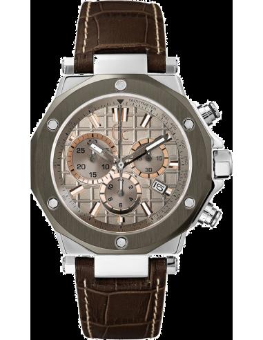 Chic Time | Montre Homme Gc Sport Chic X72026G1S Marron  | Prix : 499,00€