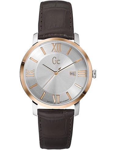 Chic Time   Montre Homme Gc Classica X60019G1S Marron    Prix : 939,00€