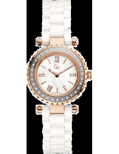 Chic Time   Montre Femme Gc Precious X70126L1S Blanc    Prix : 699,00€