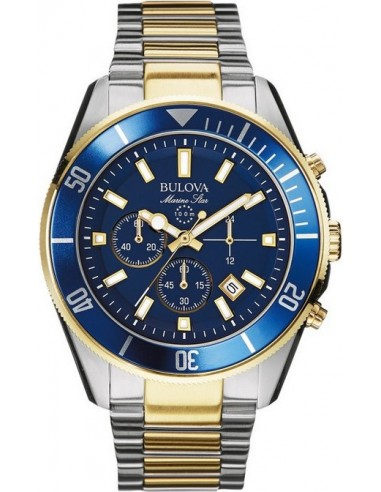 Chic Time   Montre Homme Bulova Marine Star 98B230 Or    Prix : 389,00€