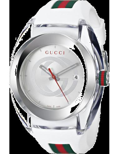 Chic Time   Montre Femme Gucci Sync YA137102 Blanc    Prix : 499,00€