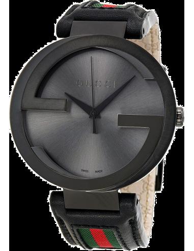 Chic Time | Montre Homme Gucci Interlocking YA133206 Noir  | Prix : 1,099.00