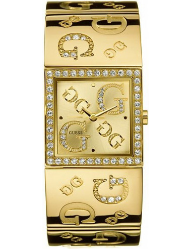 Chic Time | Montre Guess Femme Dorée G-Mix G96049L Bracelet Or Pavé Swarovski  | Prix : 159,90€