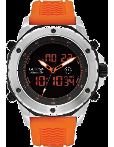 Chic Time   Montre Homme Bulova Marine Star 98C118 Orange    Prix : 289,00€