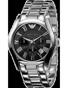 Chic Time | Montre Homme Emporio Armani AR0673 Bracelet Acier Fond Noir  | Prix : 179,50€