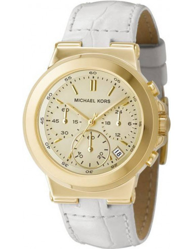 Chic Time | Montre Femme Michael Kors MK5224 bracelet cuir blanc  | Prix : 199,67€