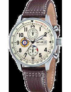 Chic Time | Montre Homme AVI-8 Hawker Hurricane AV-4011-04 Marron  | Prix : 249,00€