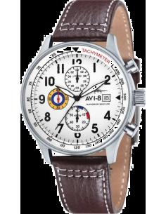 Chic Time | Montre Homme AVI-8 Hawker Hurricane AV-4011-01 Marron  | Prix : 239,00€