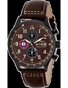 Chic Time | Montre Homme AVI-8 Hawker Hurricane AV-4011-07 Marron  | Prix : 279,00€