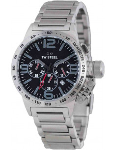 Chic Time | Montre Homme TW Steel Canteen TW301 Argent  | Prix : 529,00 €