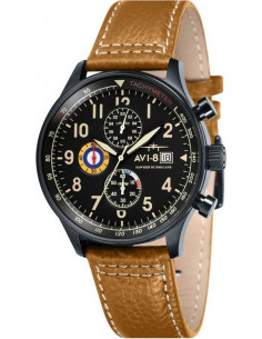 Chic Time | Montre Homme AVI-8 Hawker Hurricane AV-4011-06 Marron  | Prix : 279,00€