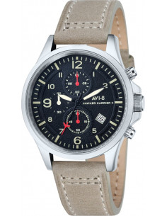 Chic Time | AVI-8  - Montre Homme AVI-8 Hawker Harrier II AV-4001-03 Beige  - Prix : 229,00 €