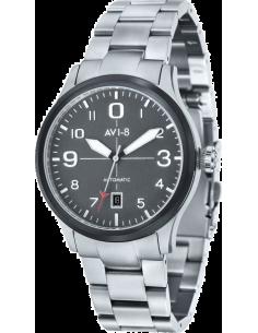 Chic Time | AVI-8  - Montre Homme AVI-8 Flyboy AV-4021-12 Argent  - Prix : 259,00 €