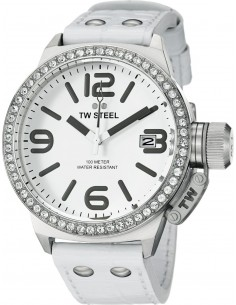 Chic Time | Montre Mixte TW Steel Canteen TW35 Blanc  | Prix : 759,00 €