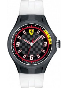 Chic Time | Montre Homme Ferrari Pit Crew 0830004 Blanc  | Prix : 139,00€
