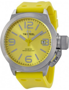 Chic Time | Montre Homme TW Steel Canteen TW520 Jaune  | Prix : 229,48€