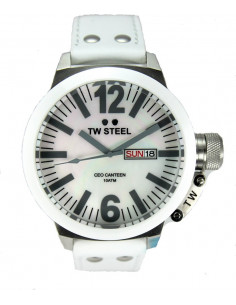 Chic Time | Montre Homme TW Steel Canteen CE1038 Blanc  | Prix : 219,00 €