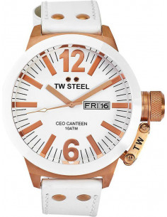 Chic Time | Montre Homme TW Steel Canteen CE1036 Blanc  | Prix : 459,00€