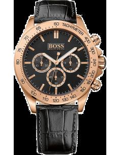 Chic Time | Montre Homme Hugo Boss Ikon 1513179 Bracelet en cuir noir  | Prix : 259,35€